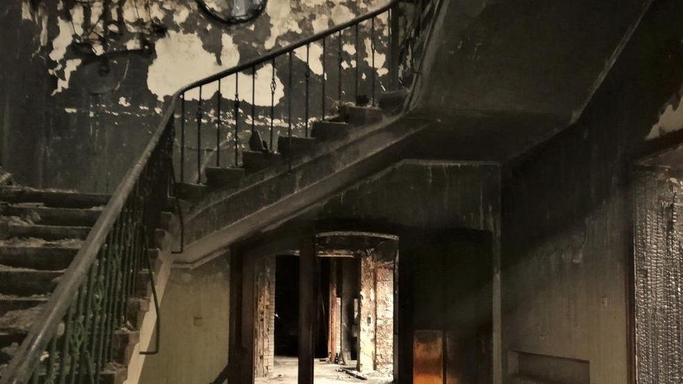 Auch das Treppenhaus muss erneuert werden.
