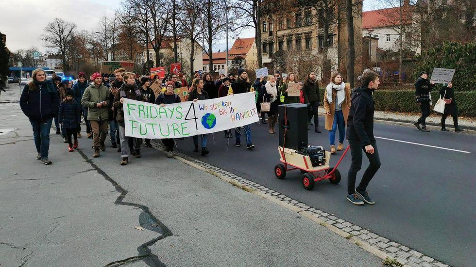 Demo in Zittau. Foto: Dieter Eimer