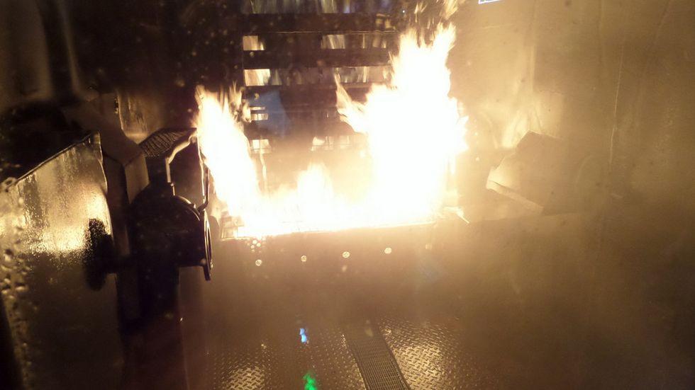 In Kamenz können Kameraden der Feuerwehr mit einem speziellen Brandübungscontainer den Ernstfall trainieren.