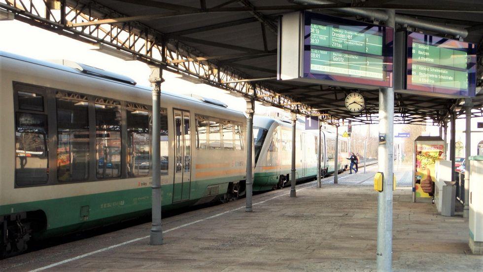 Trilex im Bahnhof Bischofswerda
