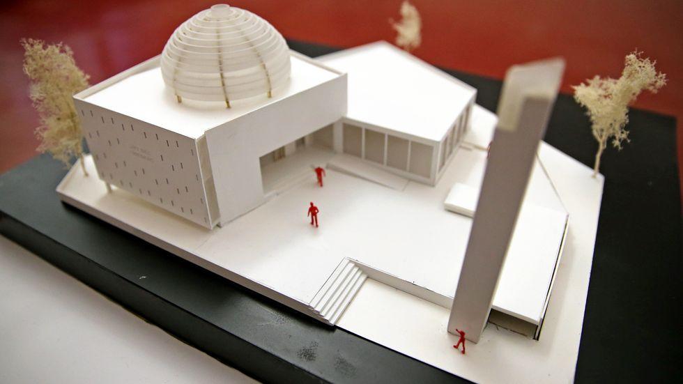 Modell der geplanten Ahmadiyya-Moschee in Leipzig