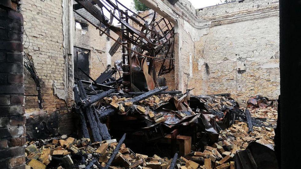 Der ausgebrannte Festsaal