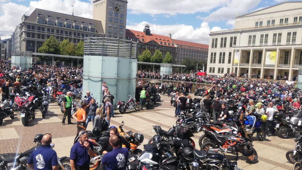 Motorraddemo Leipzig