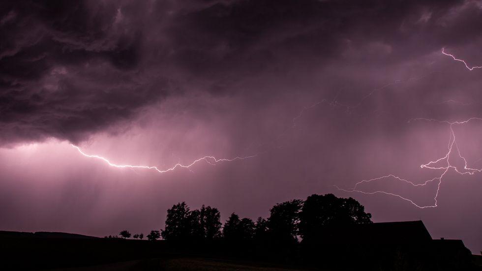 Schweres Gewitter über Bichofswerda. Foto: Archiv (Rocci Klein)