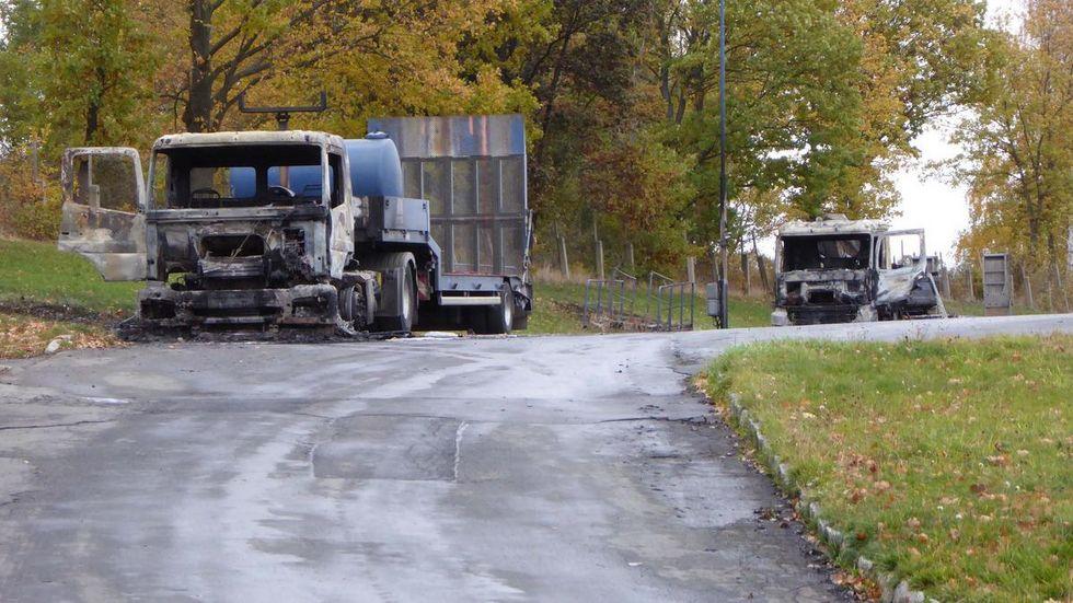 Diese Fahrzeuge hatten gegen 1:00 Uhr in Flammen gestanden. © Mike Müller