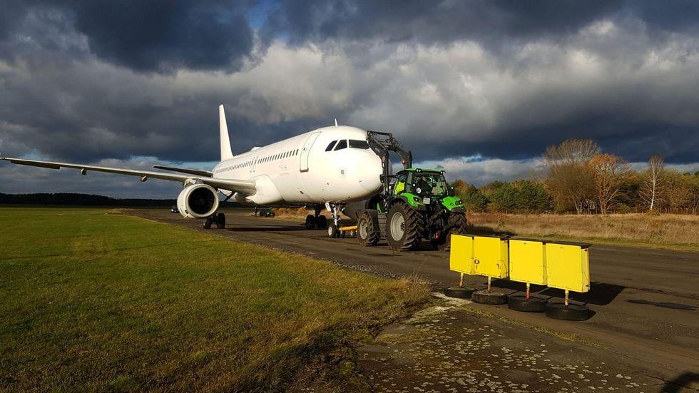 Der Airbus ist gelandet.
