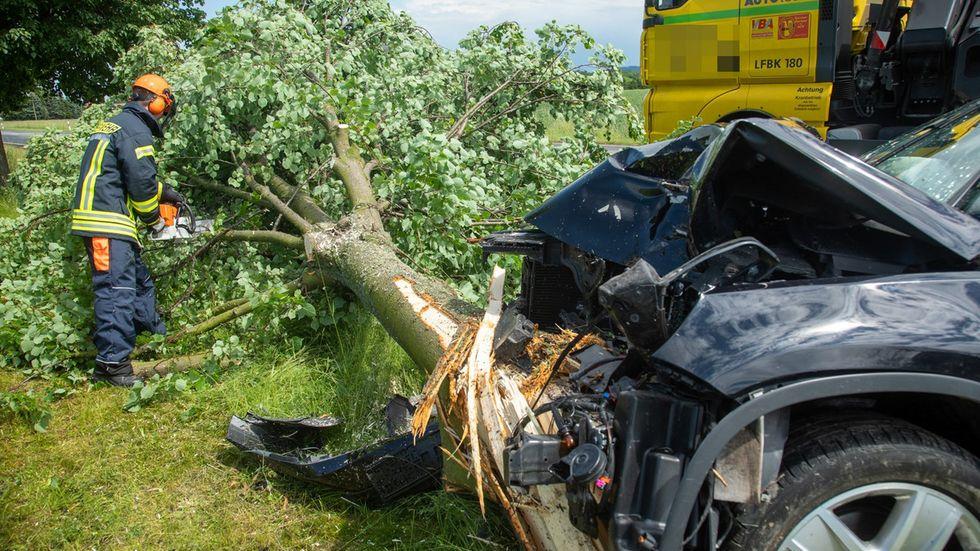 Bei einem Unfall auf der S111 wurde ein 63-Jähriger schwer verletzt.