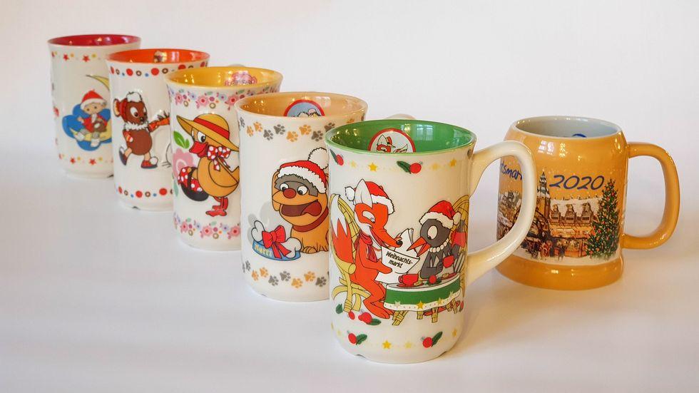 Weihnachtsmarkttassen aus Leipzig