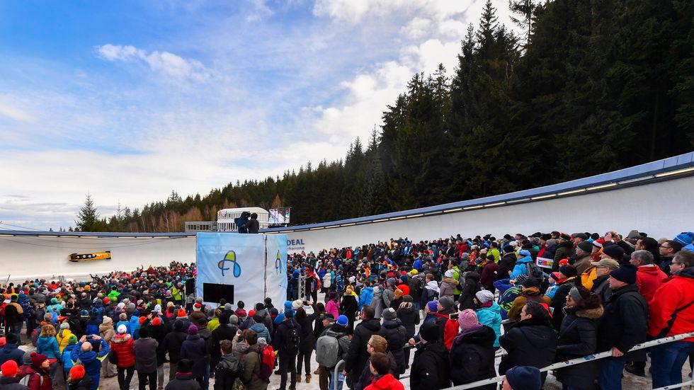 Bei der Bob- und Skeleton-WM war in Altenberg die Hölle los. Auf einen ähnlichen Zuschaueransturm hofft Altenberg bei der Austragung der Rodel-WM 2024 oder 2025.