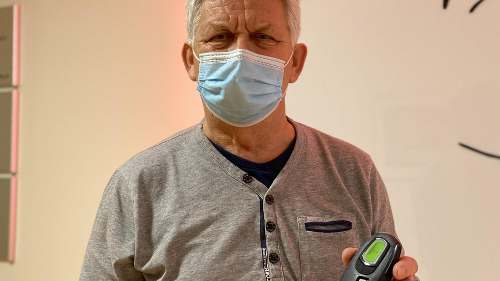 Patient Hans-Jürgen Janke.